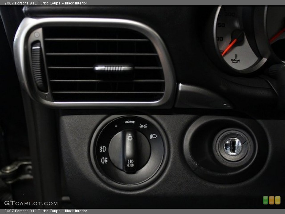 Black Interior Controls for the 2007 Porsche 911 Turbo Coupe #82778232