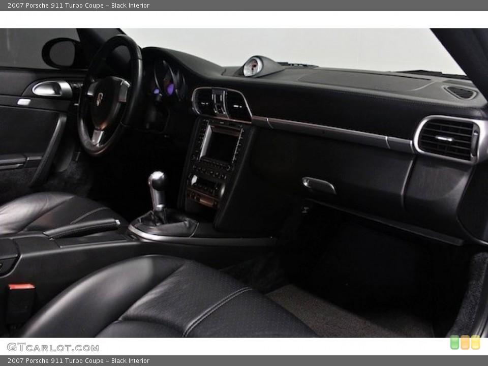 Black Interior Dashboard for the 2007 Porsche 911 Turbo Coupe #82778274