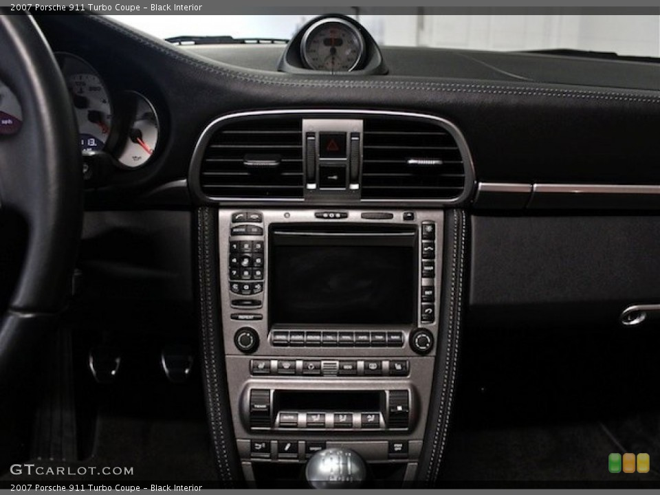 Black Interior Controls for the 2007 Porsche 911 Turbo Coupe #82778362