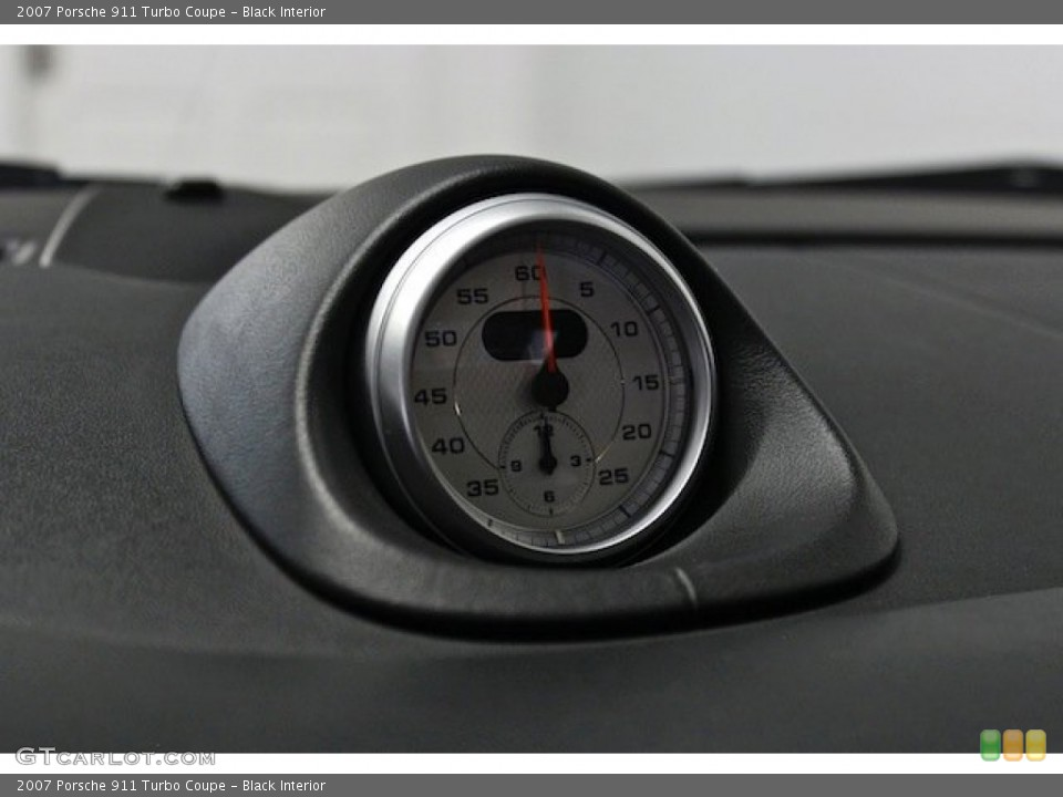 Black Interior Gauges for the 2007 Porsche 911 Turbo Coupe #82778385