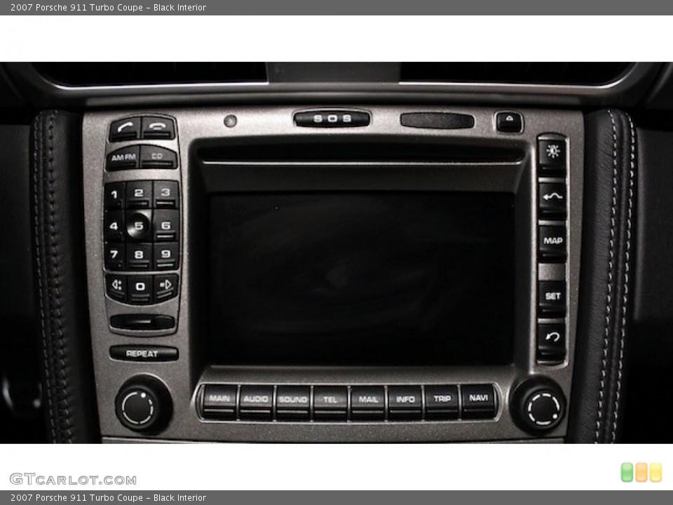 Black Interior Controls for the 2007 Porsche 911 Turbo Coupe #82778410