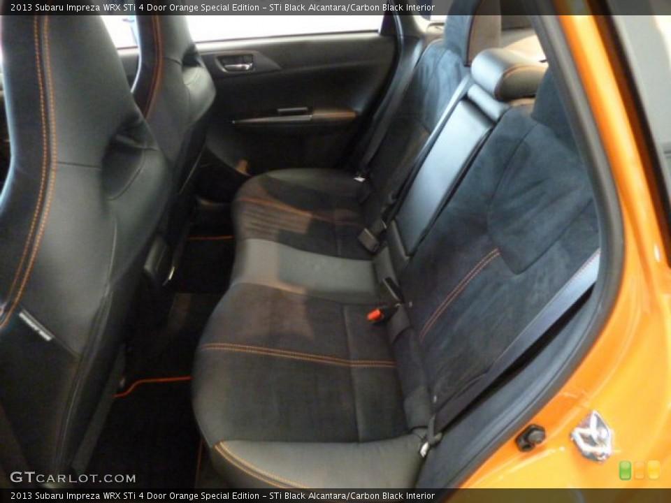 STi Black Alcantara/Carbon Black Interior Rear Seat for the 2013 Subaru Impreza WRX STi 4 Door Orange Special Edition #83021648