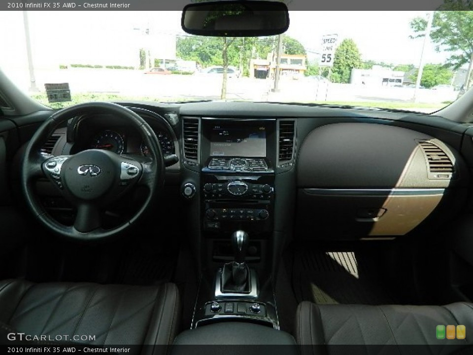 Chestnut Interior Dashboard for the 2010 Infiniti FX 35 AWD #83063106
