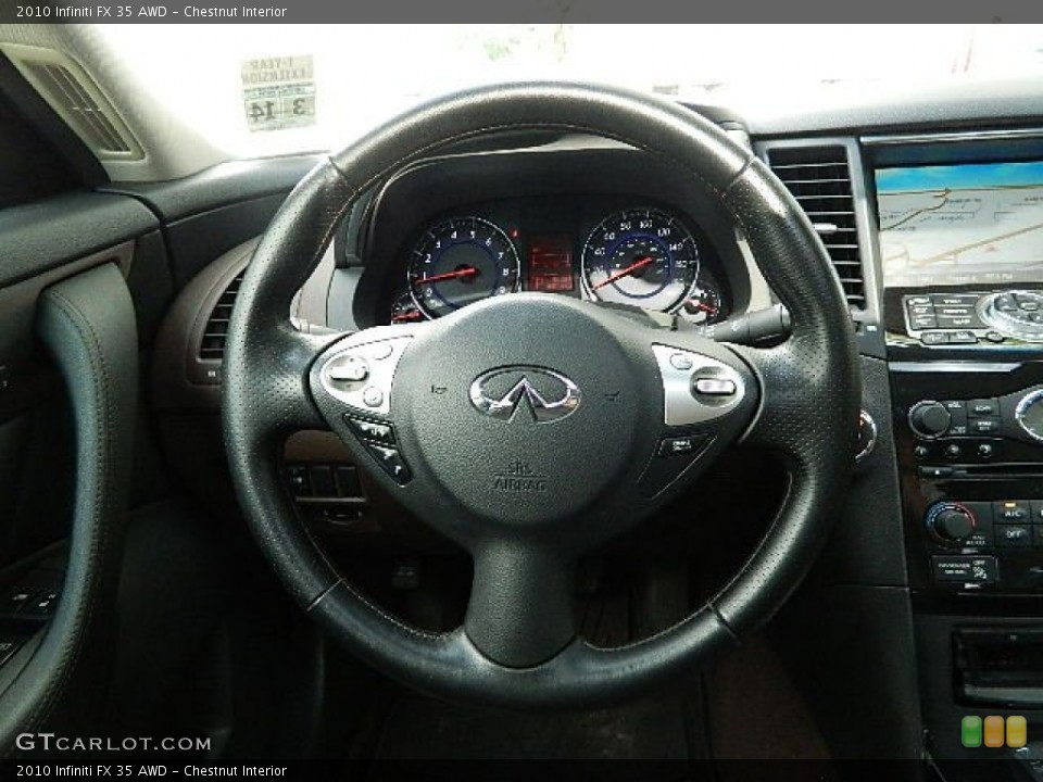 Chestnut Interior Steering Wheel for the 2010 Infiniti FX 35 AWD #83063127