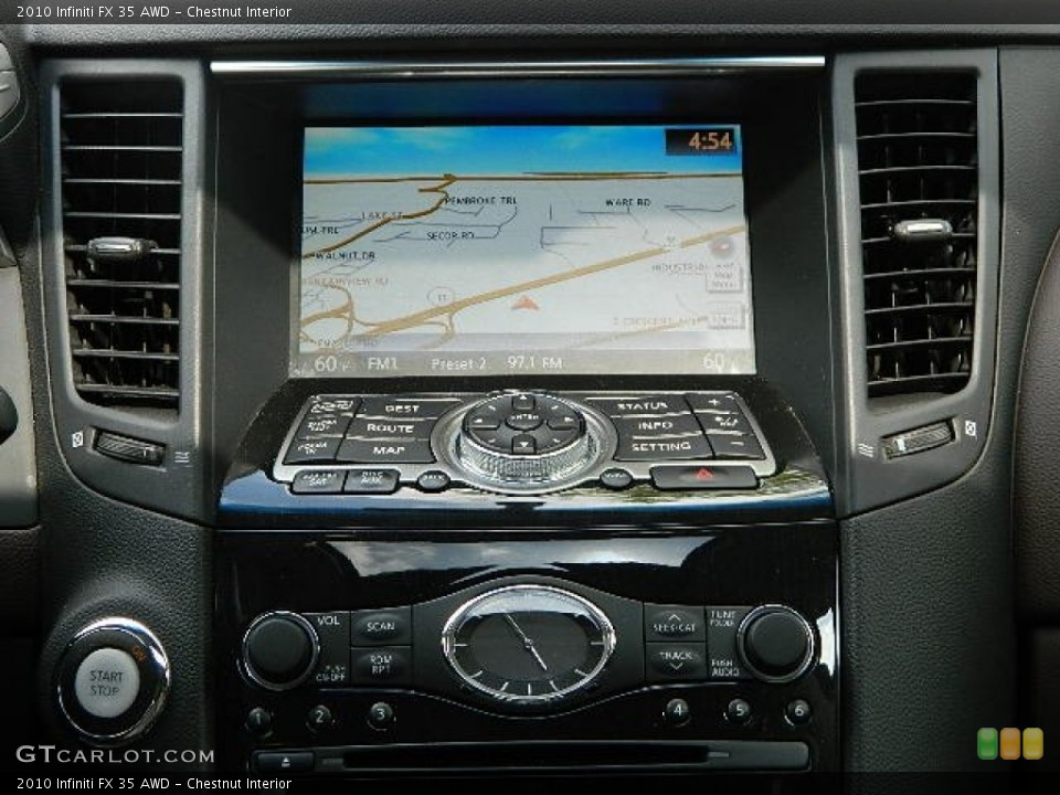 Chestnut Interior Navigation for the 2010 Infiniti FX 35 AWD #83063151