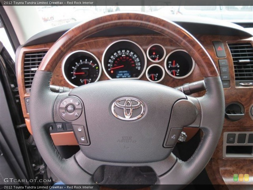 Red Rock Interior Steering Wheel for the 2012 Toyota Tundra Limited CrewMax #83089712