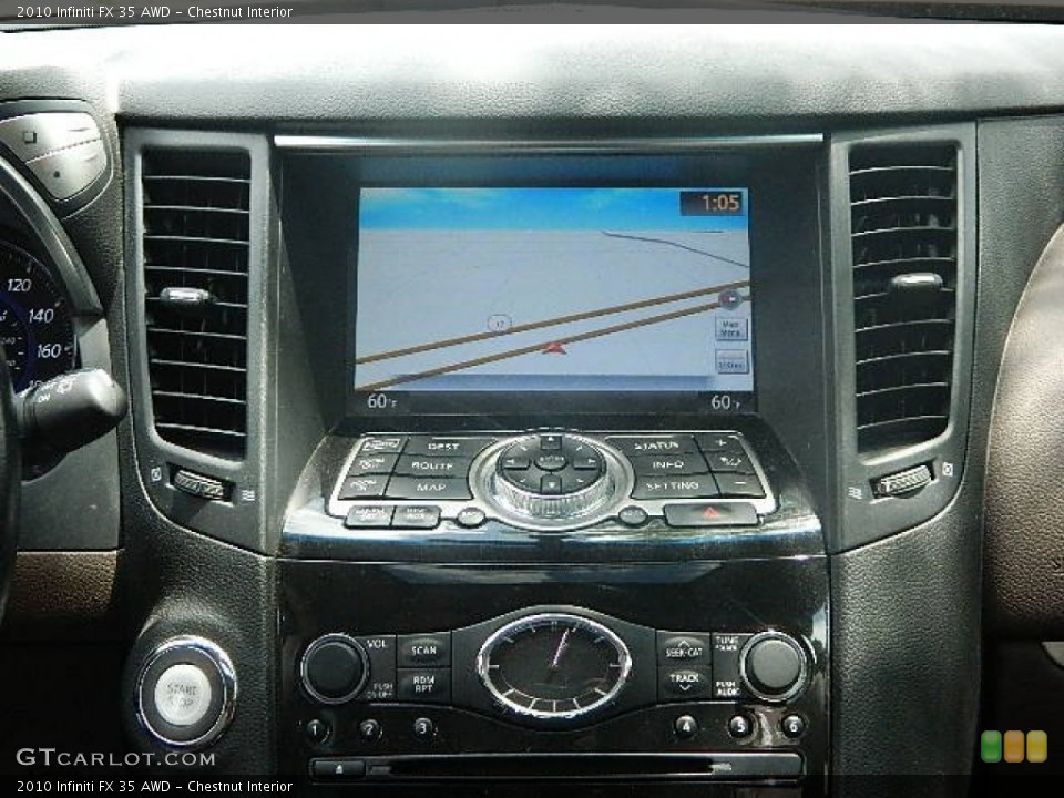 Chestnut Interior Navigation for the 2010 Infiniti FX 35 AWD #83098833