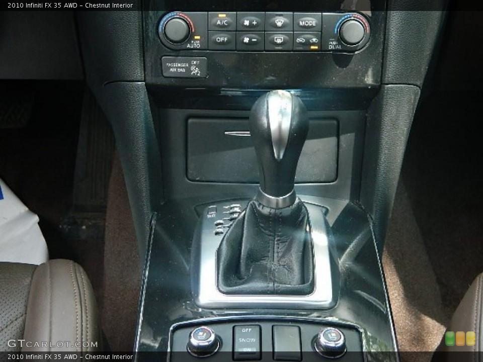 Chestnut Interior Transmission for the 2010 Infiniti FX 35 AWD #83098868