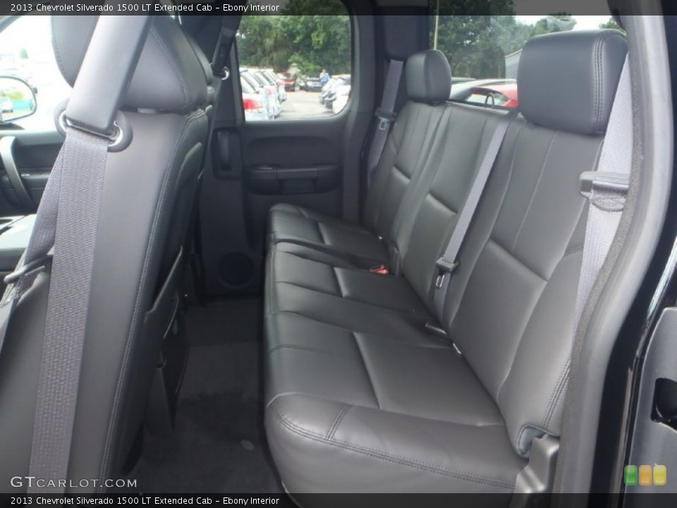 Ebony Interior Rear Seat for the 2013 Chevrolet Silverado 1500 LT Extended Cab #83269453