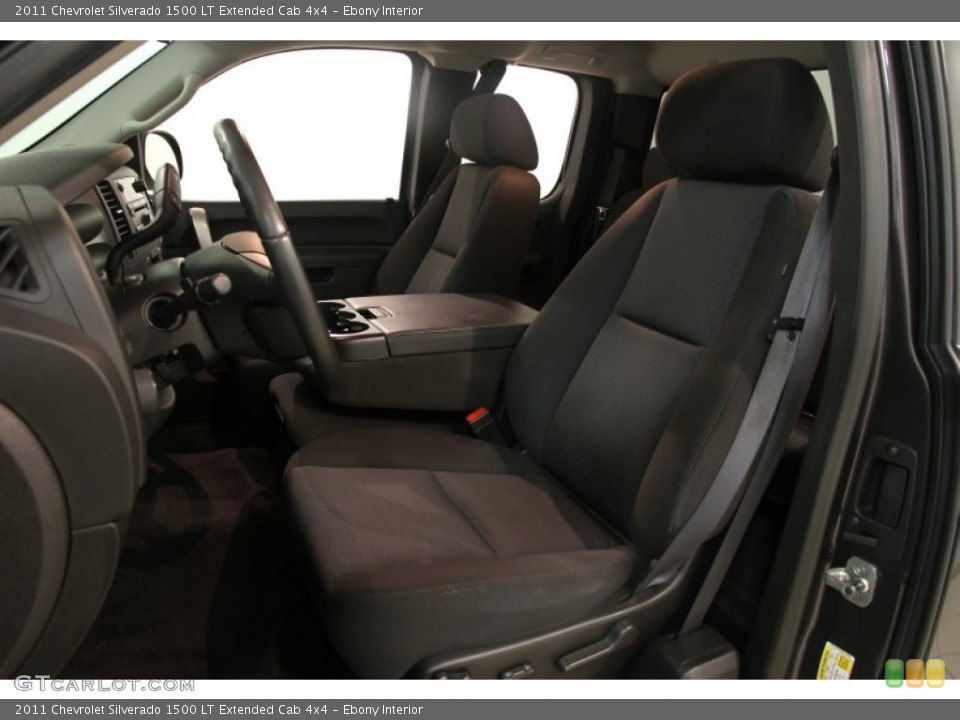 Ebony Interior Front Seat for the 2011 Chevrolet Silverado 1500 LT Extended Cab 4x4 #83286488