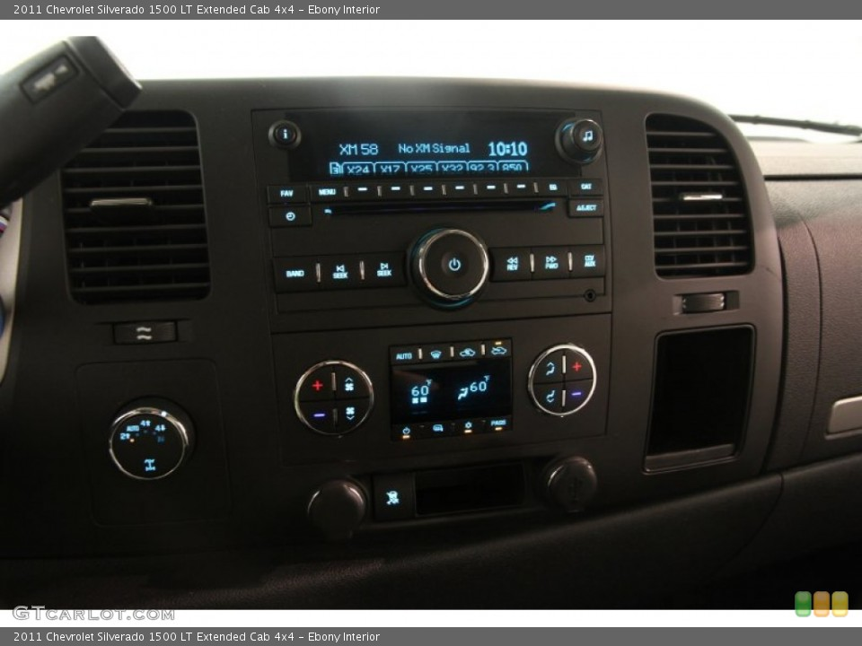 Ebony Interior Controls for the 2011 Chevrolet Silverado 1500 LT Extended Cab 4x4 #83286576
