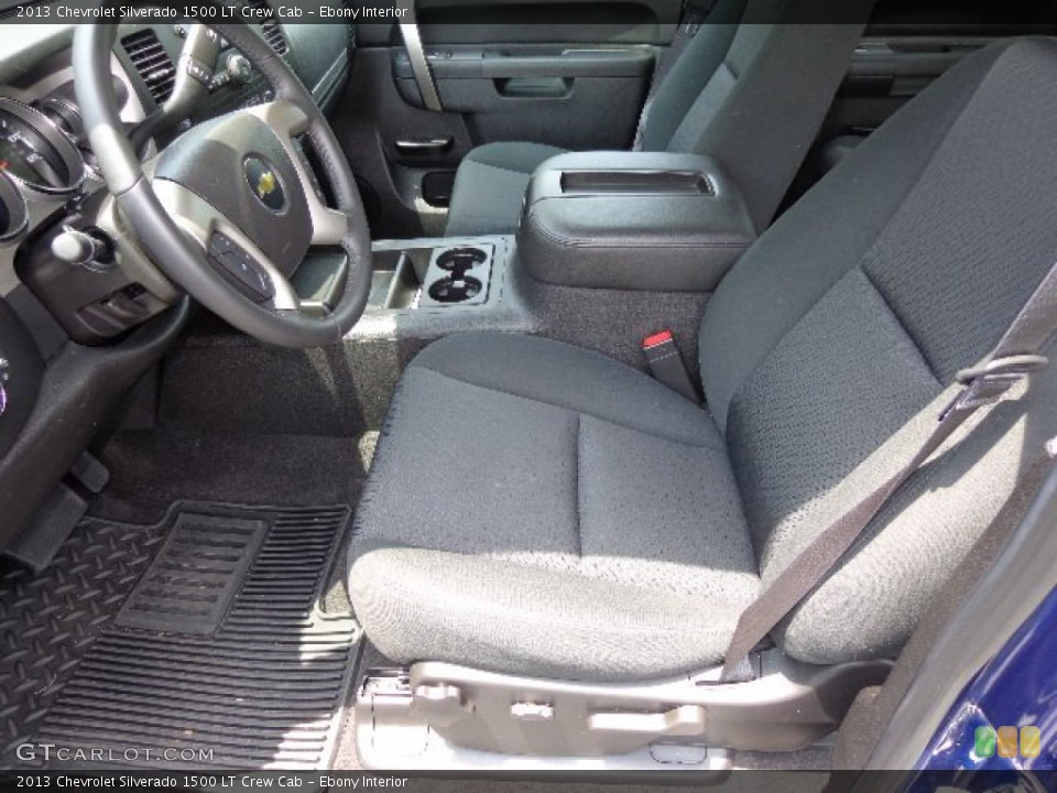Ebony Interior Front Seat for the 2013 Chevrolet Silverado 1500 LT Crew Cab #83353959