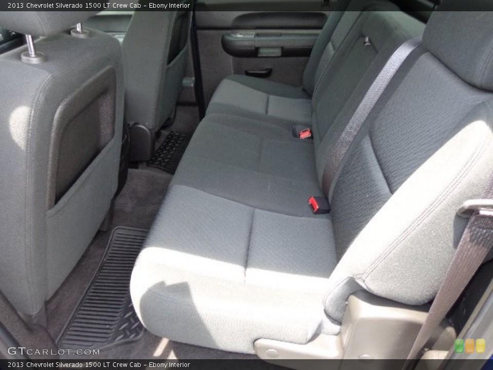 Ebony Interior Rear Seat for the 2013 Chevrolet Silverado 1500 LT Crew Cab #83353972