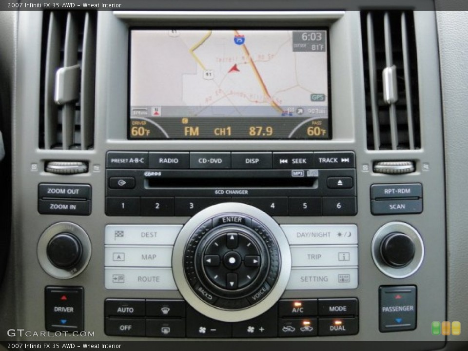 Wheat Interior Navigation for the 2007 Infiniti FX 35 AWD #83408278