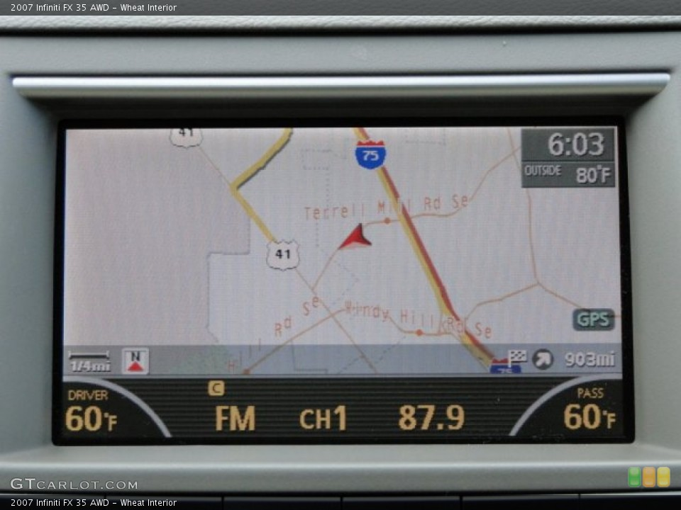 Wheat Interior Navigation for the 2007 Infiniti FX 35 AWD #83408320
