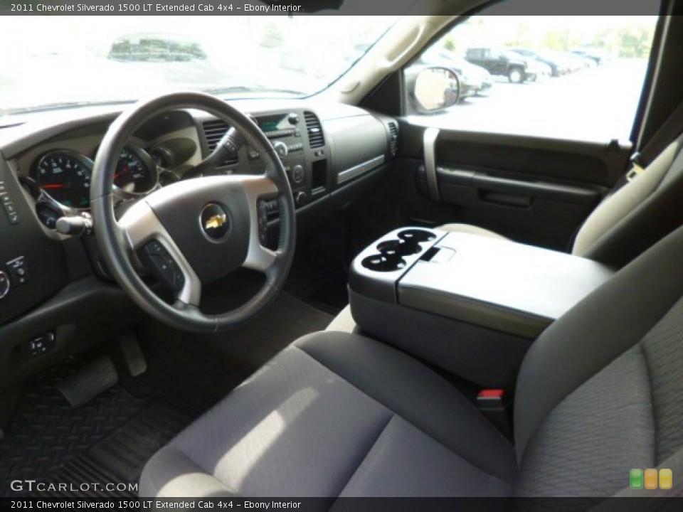 Ebony Interior Prime Interior for the 2011 Chevrolet Silverado 1500 LT Extended Cab 4x4 #83522412