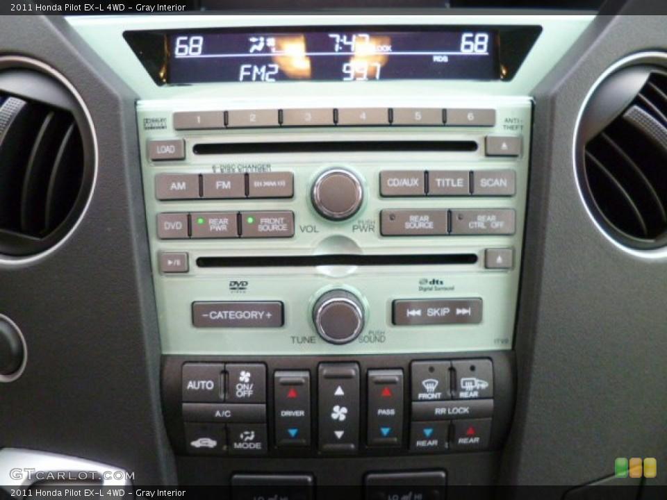 Gray Interior Controls for the 2011 Honda Pilot EX-L 4WD #83533356