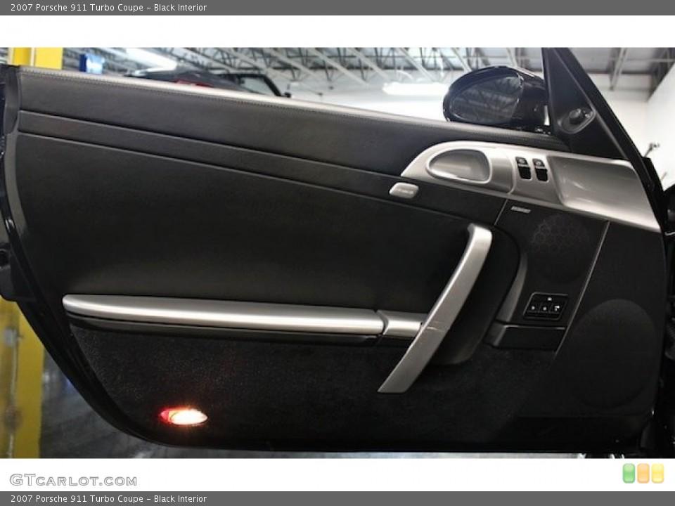 Black Interior Door Panel for the 2007 Porsche 911 Turbo Coupe #83545233