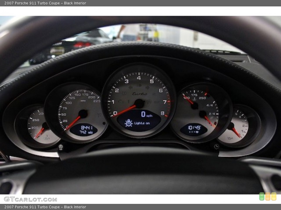 Black Interior Gauges for the 2007 Porsche 911 Turbo Coupe #83545632