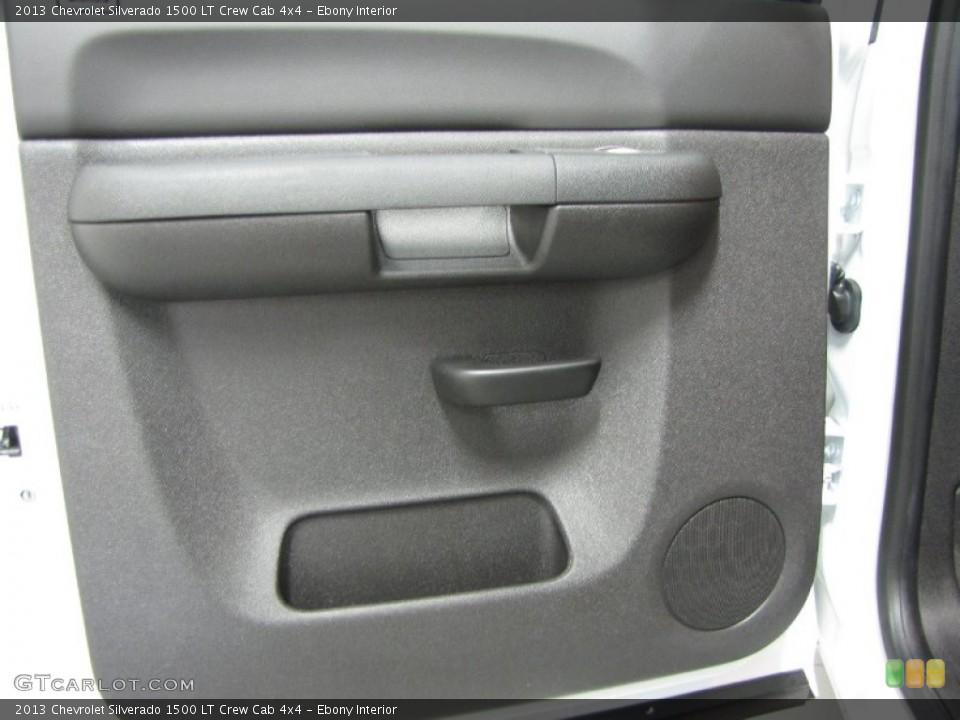 Ebony Interior Door Panel for the 2013 Chevrolet Silverado 1500 LT Crew Cab 4x4 #83555754