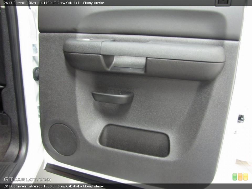 Ebony Interior Door Panel for the 2013 Chevrolet Silverado 1500 LT Crew Cab 4x4 #83555778
