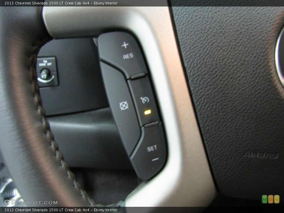 Ebony Interior Controls for the 2013 Chevrolet Silverado 1500 LT Crew Cab 4x4 #83555847