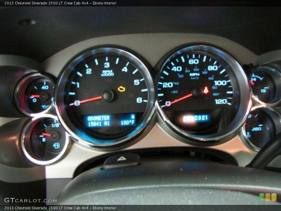 Ebony Interior Gauges for the 2013 Chevrolet Silverado 1500 LT Crew Cab 4x4 #83555916