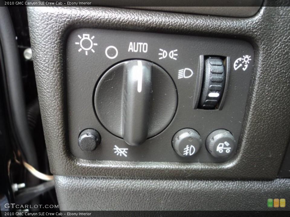 Ebony Interior Controls for the 2010 GMC Canyon SLE Crew Cab #83565000
