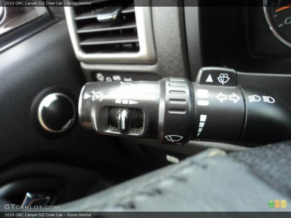 Ebony Interior Controls for the 2010 GMC Canyon SLE Crew Cab #83565112