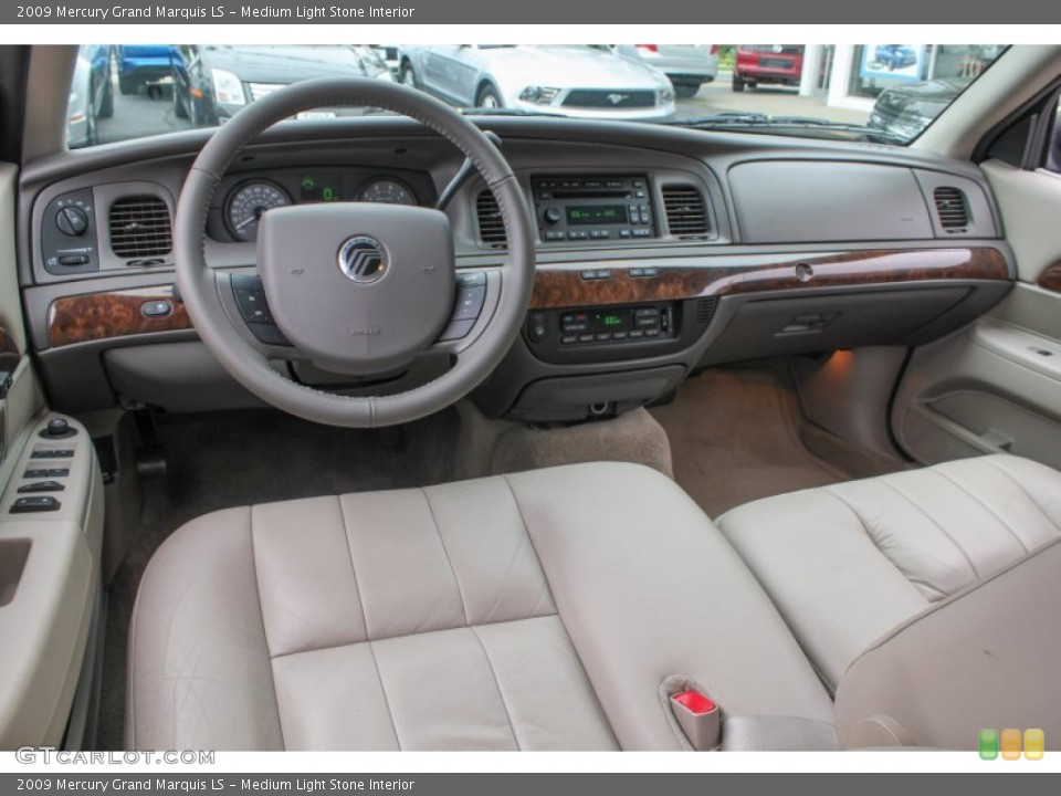 Medium Light Stone 2009 Mercury Grand Marquis Interiors