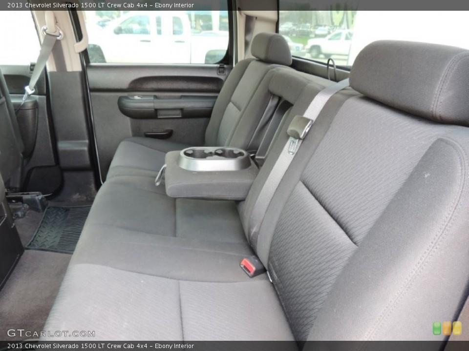 Ebony Interior Rear Seat for the 2013 Chevrolet Silverado 1500 LT Crew Cab 4x4 #83635021