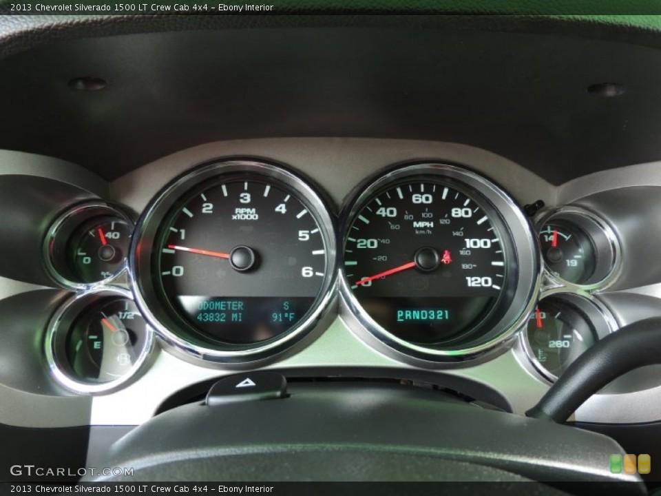 Ebony Interior Gauges for the 2013 Chevrolet Silverado 1500 LT Crew Cab 4x4 #83635048