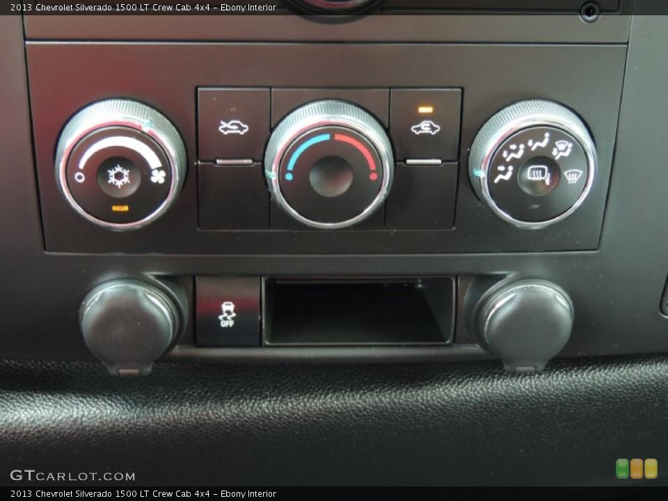 Ebony Interior Controls for the 2013 Chevrolet Silverado 1500 LT Crew Cab 4x4 #83635147