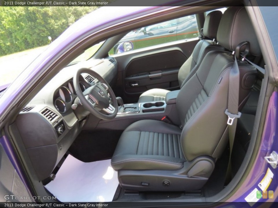Dark Slate Gray Interior Front Seat for the 2013 Dodge Challenger R/T Classic #83642119