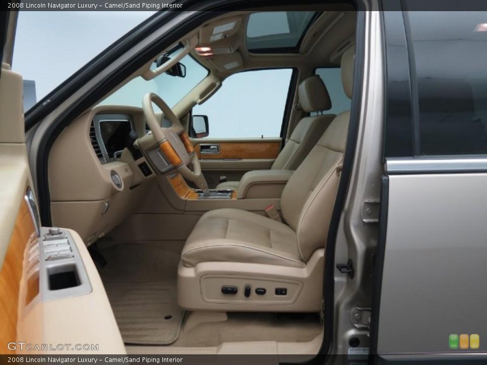 Camel/Sand Piping 2008 Lincoln Navigator Interiors