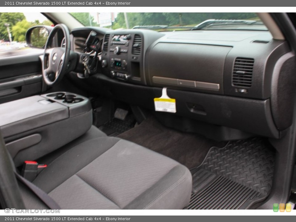 Ebony Interior Dashboard for the 2011 Chevrolet Silverado 1500 LT Extended Cab 4x4 #83891683