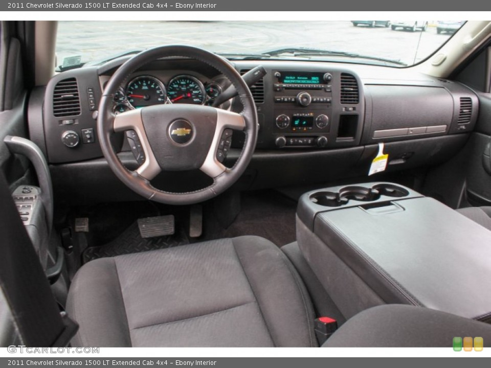 Ebony Interior Prime Interior for the 2011 Chevrolet Silverado 1500 LT Extended Cab 4x4 #83891848