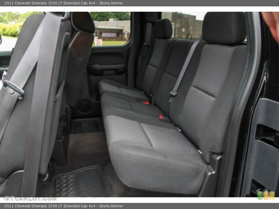 Ebony Interior Rear Seat for the 2011 Chevrolet Silverado 1500 LT Extended Cab 4x4 #83891871