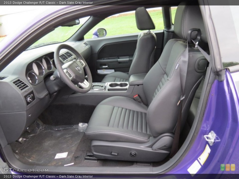 Dark Slate Gray Interior Front Seat for the 2013 Dodge Challenger R/T Classic #83954833