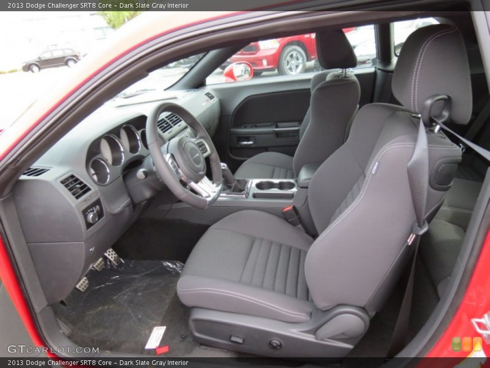Dark Slate Gray Interior Front Seat for the 2013 Dodge Challenger SRT8 Core #83955100