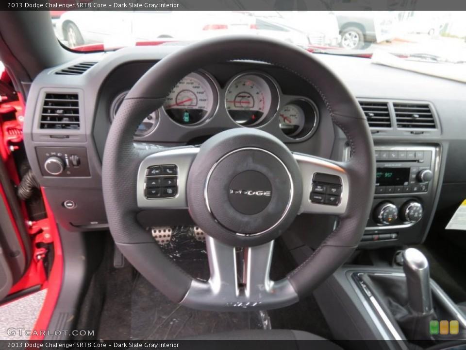 Dark Slate Gray Interior Steering Wheel for the 2013 Dodge Challenger SRT8 Core #83955127