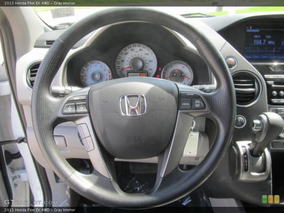 Gray Interior Steering Wheel for the 2013 Honda Pilot EX 4WD #83994633