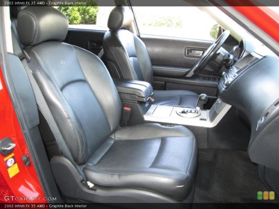 Graphite Black Interior Front Seat for the 2003 Infiniti FX 35 AWD #83995647