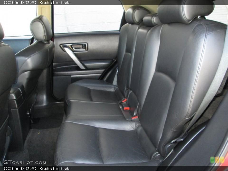 Graphite Black Interior Rear Seat for the 2003 Infiniti FX 35 AWD #83995713
