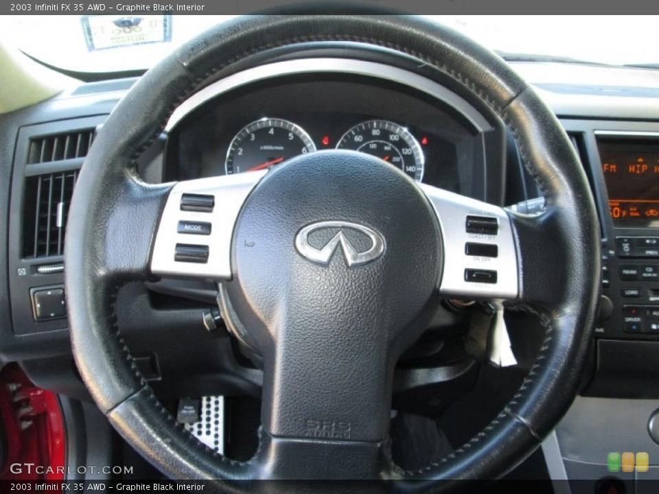 Graphite Black Interior Steering Wheel for the 2003 Infiniti FX 35 AWD #83995854