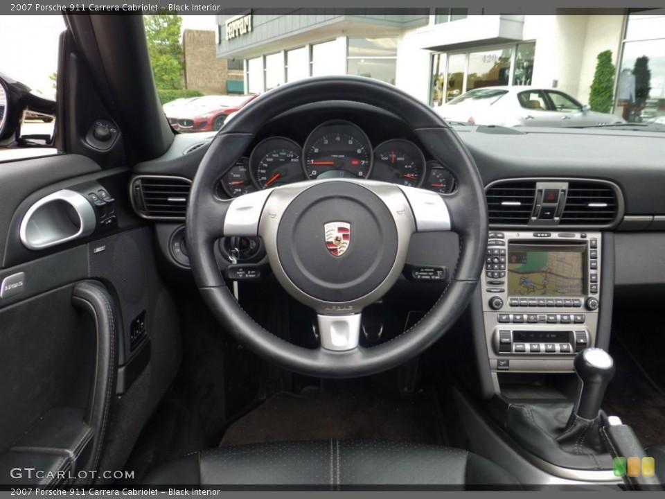 Black Interior Steering Wheel for the 2007 Porsche 911 Carrera Cabriolet #84038136