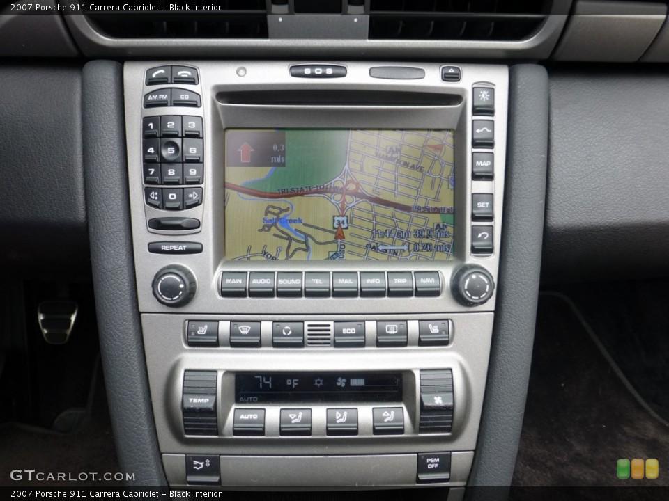 Black Interior Navigation for the 2007 Porsche 911 Carrera Cabriolet #84038295