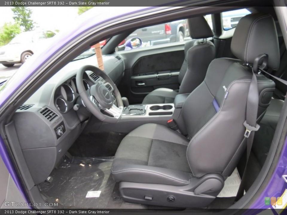 Dark Slate Gray Interior Front Seat for the 2013 Dodge Challenger SRT8 392 #84106064