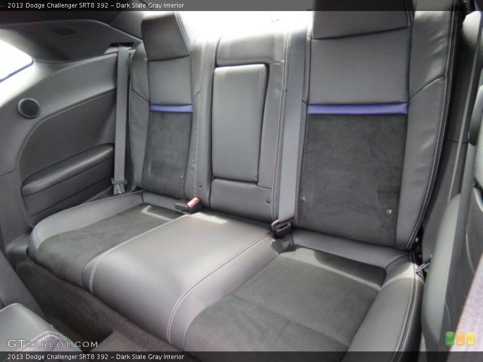 Dark Slate Gray Interior Rear Seat for the 2013 Dodge Challenger SRT8 392 #84106139