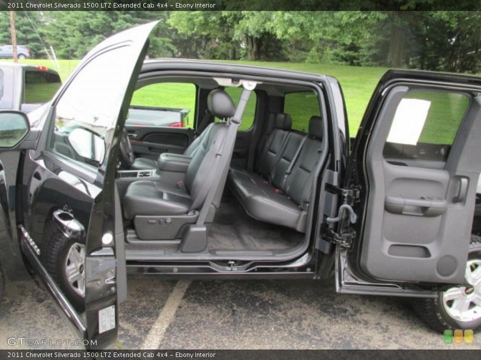 Ebony Interior Photo for the 2011 Chevrolet Silverado 1500 LTZ Extended Cab 4x4 #84173121